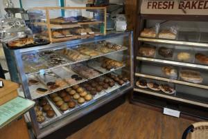 Breakfast at the bakery.