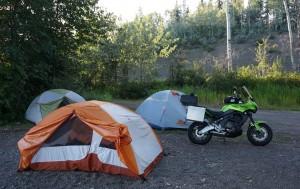 Camping on Francois Lake