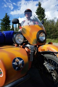 Met a guy driving a Ural sidecar to Alaska, not sure he's going to make it.