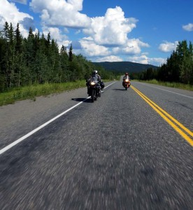 On the road between Watson Lake and Teslin