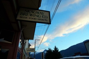 Dinner at the Skagway Brewing Company.